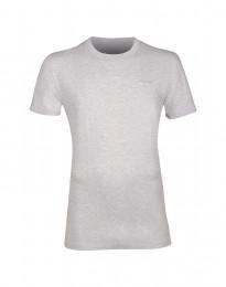 T-paita puuvillaa vaalea harmaameleerattu