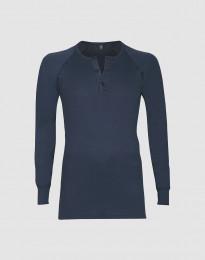 Pitkähihainen paita napeilla puuvillaa tummansininen