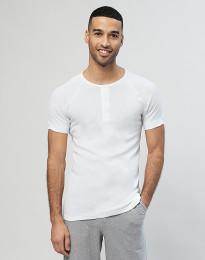 Premium Classic - lyhythihainen paita napeilla puuvillaa valkoinen