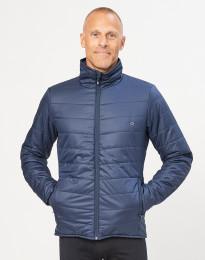 Miesten ulkoilutakki - kierrätettyä polyesteriä/merinovillaa tummansininen