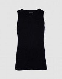 Hihaton paita ekopuuvilla-elastaania musta