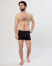 Puuvilla-alushousut - lahkeet kuvioneulosta musta
