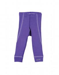 Leggingsit merinovillaa violetti