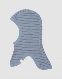 Vauvan kypärämyssy merinovillaa - siniraidallinen