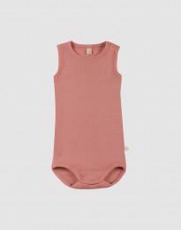 Vauvan hihaton body - roosa