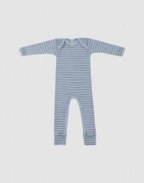 Vauvan merinovillainen potkupuku - siniraidallinen