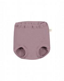 Vauvan alushousut merinovillaa - tumma roosa