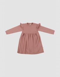 Vauvan villainen röyhelömekko - roosa