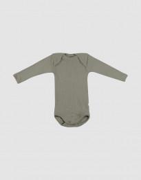 Vauvan villabody ribbineulosta Oliivinvihreä