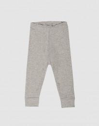 Vauvan leggingsit ekopuuvillaa harmaa/raidallinen