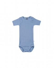Lyhythihainen vauvanbody ekologista puuvillaa sininen