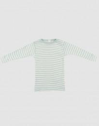 Vauvan pitkähihainen paita ekologista villasilkkiä pastellinvihreä/luonnonvalkoinen