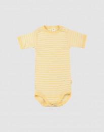 Lyhythihainen vauvan body ekologista villasilkkiä vaaleankeltainen/luonnonvärinen