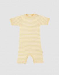 Vauvan kesäpotkupuku ekologista villasilkkiä vaaleankeltainen