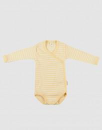 Vauvan kietaisubody ekologista villasilkkiä vaaleankeltainen/luonnonvärinen