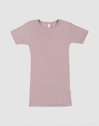 Lasten t-paita villasilkkiä pastellinroosa