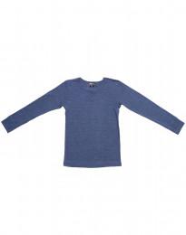 Pitkähihainen paita villasilkkiä farkunsininen