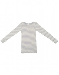 Pitkähihainen lasten paita ekologista villasilkkiä harmaa/luonnonvärinen