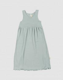 Hihaton mekko ekologista villasilkkiä pastellinvihreä