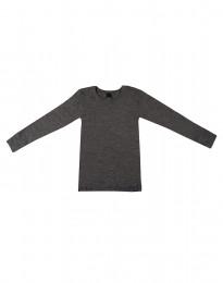 Lasten paita - ekologista merinovillaa tumma harmaameleerattu