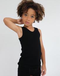 Lasten aluspaita - ekomerinovillaa musta