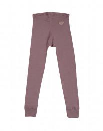 Leggingsit - ekomerinovillaa tumma roosa