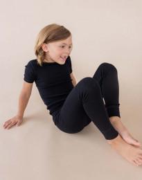 Lasten t-paita ekomerinovillaa musta