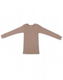 Lasten paita leveää ribbineulosta vanha roosa