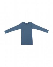 Lasten paita leveää ribbineulosta kyyhkynsininen