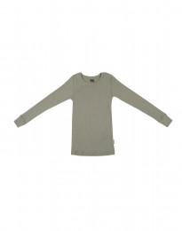 Lasten paita leveää ribbineulosta oliivinvihreä