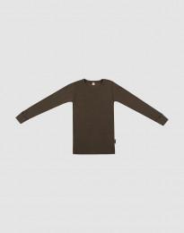 Lasten paita leveää ribbineulosta - Tummanruskea