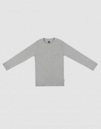 Lasten pyjamapaita harmaameleerattu