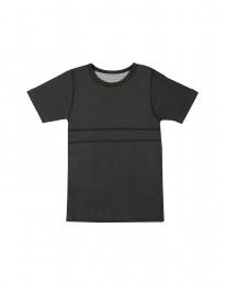 Lasten t-paita ekopuuvillaa tummanharmaa meleerattu
