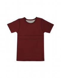 Lasten t-paita ekopuuvillaa viininpunainen