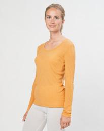 Naisten paita ribbineulosta okrankeltainen