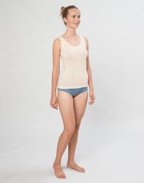 Naisten merinovillaiset midi-alushousut sininen