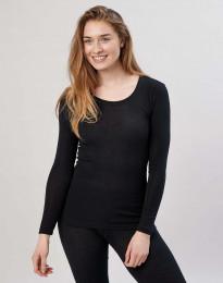 Pitkähihainen paita merinovillaa musta