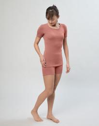 Naisten shortsipituiset alushousut merinovillaa Roosa
