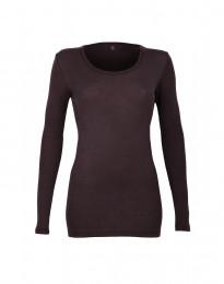 Naisten paita - ekomerinovillaa tummanvioletti