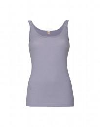 Naisten toppi kapeilla olkaimilla vaalea violetti