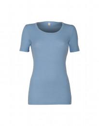 Naisten t-paita merinovillaa vaaleansininen
