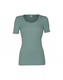 Naisten t-paita merinovillaa vaaleanvihreä
