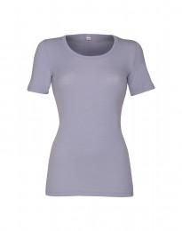 Naisten t-paita merinovillaa vaalea violetti