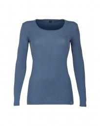 Naisten paita ‒ ekologista merinovillaa kyyhkynsininen