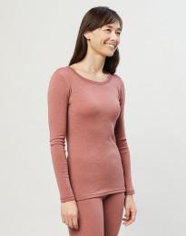 Naisten paita ekologista merinovillaa Roosa
