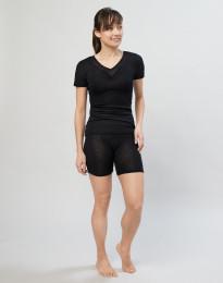 Shortsipituiset alushousut villasilkkiä musta