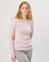 Naisten pyjamapaita puuvillaa roosa