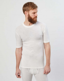 Lyhythihainen paita merinovillaa luonnonvärinen