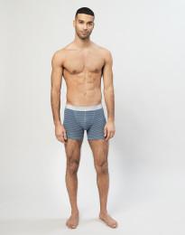 Miesten merinovilla-alushousut siniraidallinen