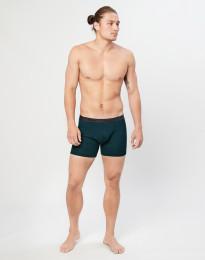 Miesten villa-alushousut ribbineulosta tumma petroolinsininen